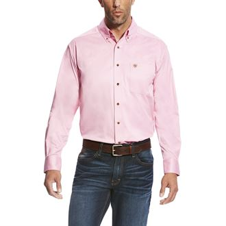 Ariat® Men's Solid Twill Shirt in Prism Pink