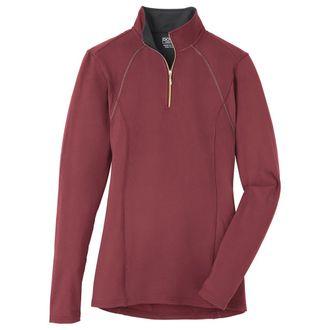Dover Saddlery® Ladies' Quarter-Zip Solid Long Sleeve Top