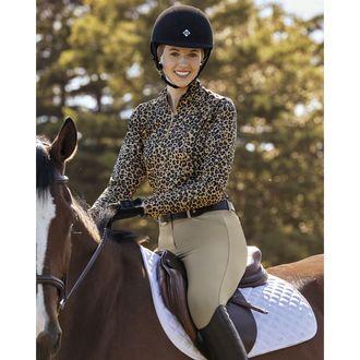 Dover Saddlery® Ladies' Quarter-Zip Long Sleeve Print Top