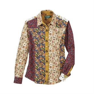 Dover Saddlery® Ladies' Mixed Media Button-Down Shirt