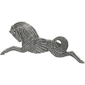 Antique Silver Horse Pin