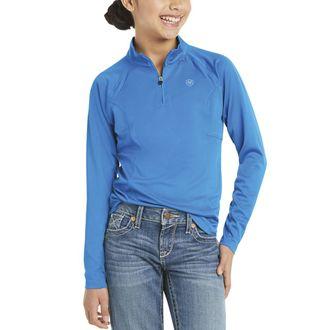 Ariat® Girls' Sunstopper Quarter-Zip Long Sleeve Solid Shirt 2.0