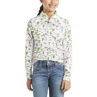 Ariat® Girls' Sunstopper Quarter-Zip Long Sleeve Print Shirt 2.0