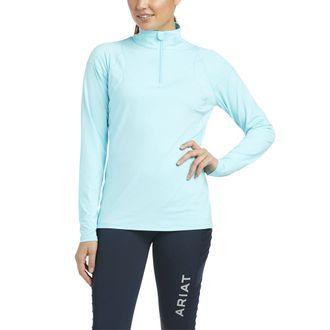 Ariat® Ladies' Auburn Quarter-Zip Long Sleeve Top