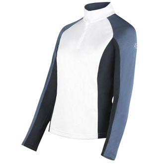 B Vertigo Ladies' Ada Women's Long Sleeve Show Shirt with Mesh Insert