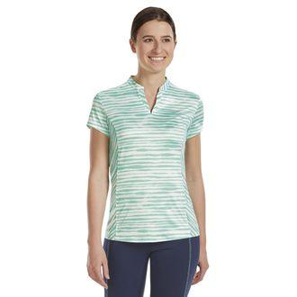 Dover Saddlery® Ladies' Notch-V Stripe Short Sleeve Shirt