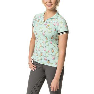 Kastel Denmark Ladies' Cocktail Print Cap Sleeve Shirt
