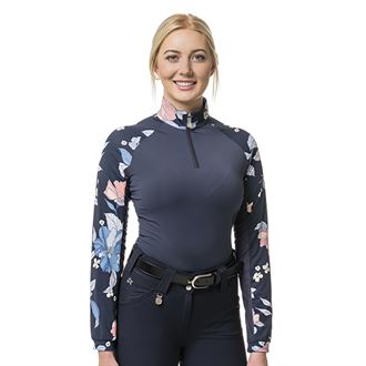 Kastel Denmark Ladies' Floral Raglan Long Sleeve Sun Shirt