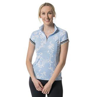Kastel Denmark Ladies' Floral Cap Sleeve Shirt with Trim