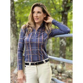Arista® Ladies' Straps Long Sleeve Quarter-Zip Sun Shirt