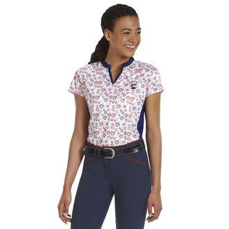Riding Sport™ by Dover Saddlery® Ladies'Air Cool Notch-V Short Sleeve Print Shirt
