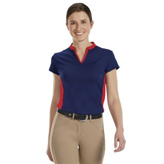 Riding Sport™ by Dover Saddlery® Ladies' Air Cool Notch-V Short Sleeve SolidShirt