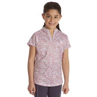 Riding Sport™ by Dover Saddlery® Girls'Air Cool Notch-V Short Sleeve PrintShirt
