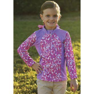 Belle & Bow Equestrian Girls' Pullover Long-Sleeve Shirt