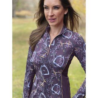 Arista® Ladies' Elegance Mid-Weight Quarter-Zip Top