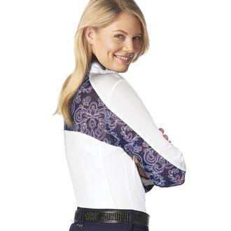 Romfh® Ladies' Lace Long Sleeve Zip Show Shirt