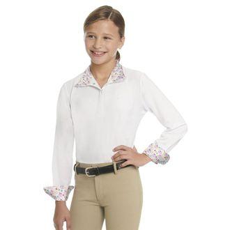 Ovation® Children's Ellie Quarter-Snap Long Sleeve Tech Show Shirt
