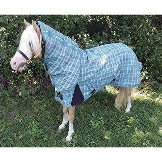 TuffRider® Mini 1200D Ripstop 220 Gram Medium-Weight Turnout Blanket with Combo Neck