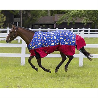 TuffRider® 1200D Ripstop Medium-Weight Western Print Two-Tone Turnout Blanket