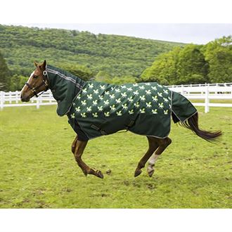 TuffRider® Pony 1200D Ripstop 220 Gram Horse Print Combo Neck Two-Tone Turnout Blanket