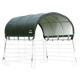 ShelterLogic® 10 x 10 Corral Shelter with Green Cover