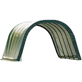 ShelterLogic® 12 x 20 x 8 Round Style Run-In Shelter
