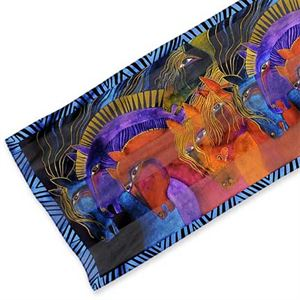 Laurel Burch Wild Horses of Fire Scarf