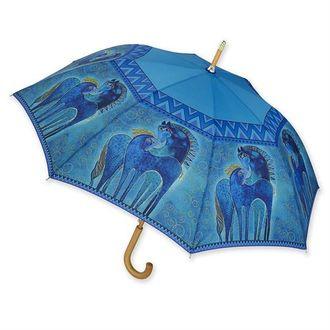 Laurel Burch Teal Mares Umbrella