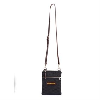 Perri's® Champion Crossbody Bag with Leather Accents and Nameplate