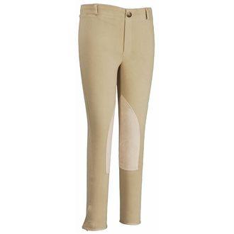 TuffRider® Childrens Cotton Pull-On Knee-Patch Breech