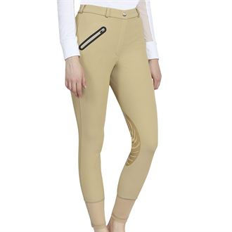 TuffRider® Ladies' Tiffany Ribbed Breech with Silicone Knee Patches