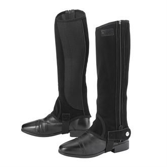 Riding Sport™ by Dover Saddlery® Adults'Synthetic Suede Half Chaps with Silicone Grip Patches