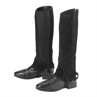 Dover Saddlery® Suede Half Chaps with Silicone Grip Patch