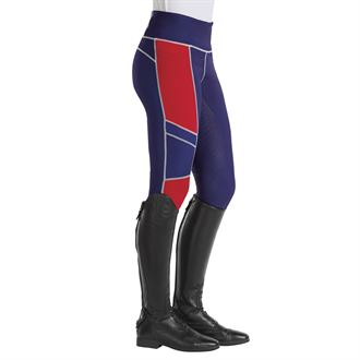 Stride by Dover Saddlery® Ladies' Color-Block Full-Seat Mesh Tight