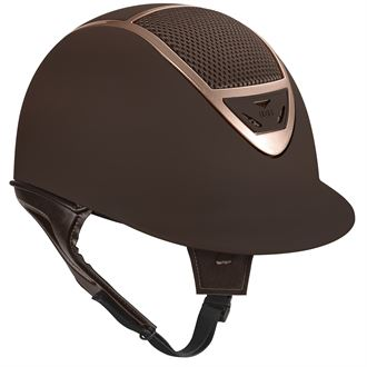 IRH® IR4G XLT Matte Brown Finish & Rose Gold Frame Helmet