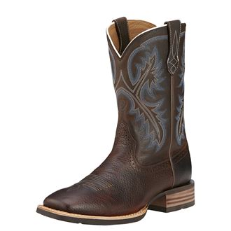 Ariat® Men's Quickdraw Western Bootsin Brown Oiled Rowdy