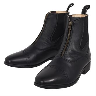 Riding Sport® by Dover Saddlery® Ladies' Essential Leather Zip Paddock Boots