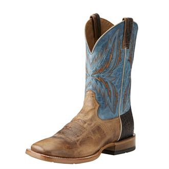 Ariat® Men's Arena Rebound Western Boots in Dusted Wheat/Heritage Blue