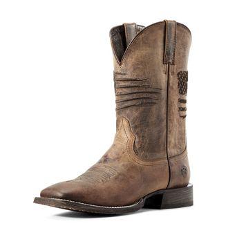 Ariat® Men's Circuit PatriotWestern Boots in Weathered Tan