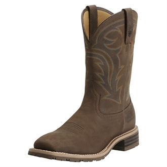 Ariat® Men's Hybrid Rancher H2O Boots in Oily Distressed Brown