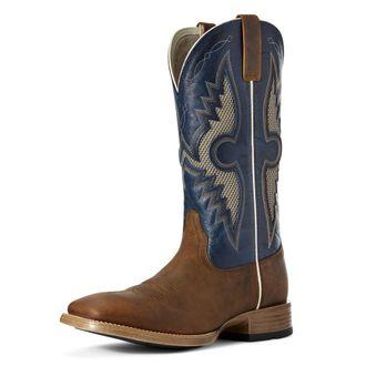 Ariat® Men's Solado VentTEK Boots in Sorrel Crunch/Cowboy Blue