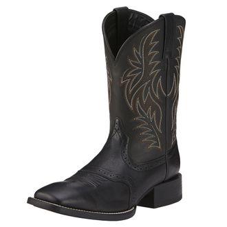 Ariat® Men's Sport Western Boots in Black Deertan
