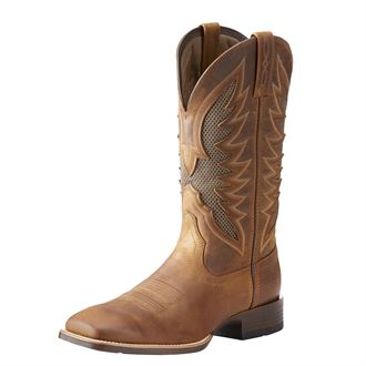 Ariat® Men's VenTEK Ultra Western Boots in Distressed Brown