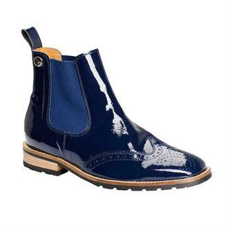 Montar Patent Brogue Boots