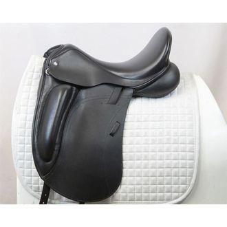 Almost New Custom Saddlery Steffen's Advantage Smooth Monoflap Dressage Saddle