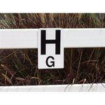 Burlingham Sports Dressage Rail Letters