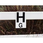 Burlingham Sports Dressage Rail Letters