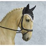 Equine Couture™ Fly Bonnet with Silver Lurex® & Contrast Color
