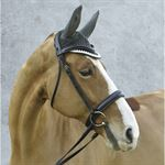Equine Couture™ Fly Bonnet with Piping and Crystals