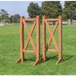 Burlingham Sports Cedar Split Rail Jump Standards with Track
